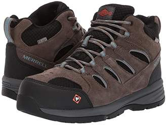 Merrell Work Windoc Mid Waterproof Steel Toe (Boulder) Women's Boots