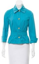 Piazza Sempione Belted Button-Up Top