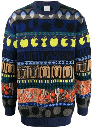 Paul Smith Graphic Print Knitted Jumper