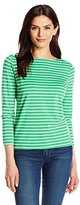 Anne Klein Women's 3/4 Sleeve Striped Top