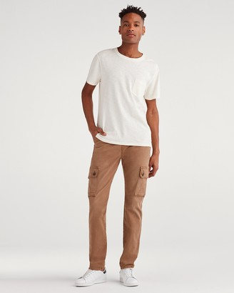 7 For All Mankind Total Twill Slim Taper Adrien Cargo Pant in Rich Khaki