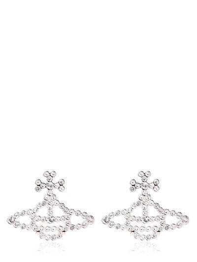 Vivienne Westwood Griselda Brass Relief Earrings