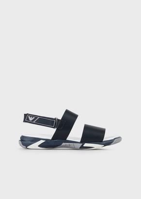 Emporio Armani Leather Sandals With Strap