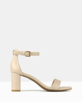betts Women's Neutrals Heeled Sandals - Seduce Low Block Heels - Size One Size, 6 at The Iconic