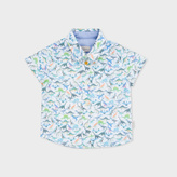 Paul Smith Baby Boys' Dinosaur Print Cotton 'Noe' Shirt