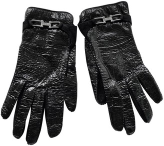 Gucci Black Patent leather Gloves