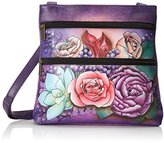 Anuschka Small Double Zip Crossbody KK