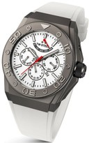 TW Steel CEO Diver CE5003 Sandblasted Titanium Plated Case / White Silicon with White Dial 48mm Mens Watch