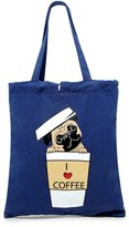 Forever 21 FOREVER 21+ Coffee Pug Graphic Tote