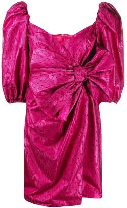 RED Valentino Bow-Detail Polka-Dot Dress
