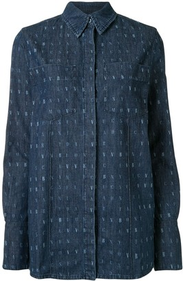 Victoria Victoria Beckham Wordsearch print denim shirt