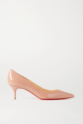 Christian Louboutin Kate 55 Patent-leather Pumps - Beige