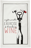 Mud Pie Exercise Corkscrew Dishtowel