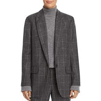 Equipment Women's Scholastic Plaid Wool Twill James Blazer