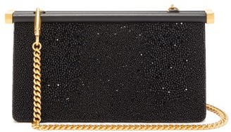 Valentino Carry Secrets Bead-embellished Clutch - Womens - Black