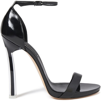 Casadei Techno Blade Glossed-leather Sandals