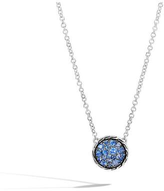 John Hardy Classic Chain Round Necklace With Blue Sapphire