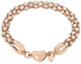 Betsey Johnson Confetti Crystal Heart Magnetic Bracelet
