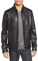 BOSS Men's Nartimo Slim Fit Leather Jacket