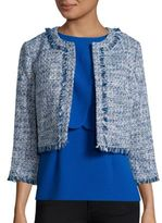 Karl Lagerfeld Paris Tweed Open-Front Blazer