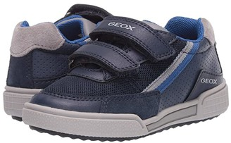 Geox Kids Poseido 5 (Toddler/Little Kid) (Navy/Grey) Boy's Shoes