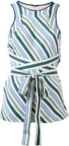 Tory Burch Cliff striped blouse - women - Polyester/Viscose - 2