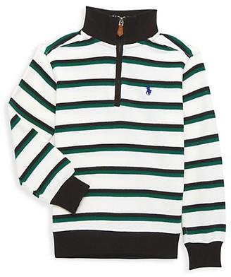 Ralph Lauren Little Boy's & Boy's Striped Quarter-Zip Sweater