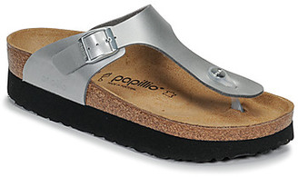 Papillio GIZEH women's Flip flops / Sandals (Shoes) in Silver