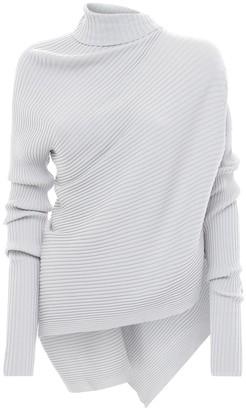 Marques Almeida Viscose Knit Long Turtleneck Sweater