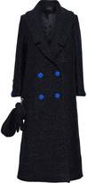 Thumbnail for your product : Paper London Rainbow Double-breasted Metallic Felt Coat