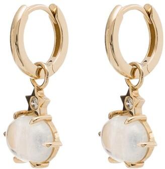Andrea Fohrman 14kt yellow gold mini Cosmo moonstone drop earrings