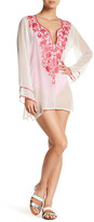 Ella Moss Stella Embroidered Sheer Tunic