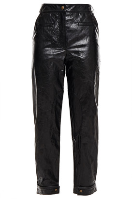 REJINA PYO Leon Faux Crinkled-leather Tapered Pants