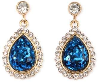 Riah Fashion Glitter Teardrop Earrings