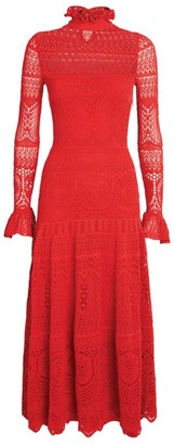 Alexander McQueen Lace Knitted Maxi Dress