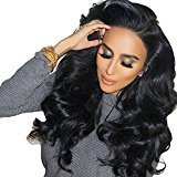 Remeehi Thicken 150% Density Body Wave Lace Wigs Natural Color 6A Grade Unprocessed Virgin Remy Brazilian Human Hair Lace Wigs Bleached Knots With Combs and Straps 22 Inch Full Lace