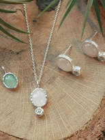 Iris Water Lily Necklace, Earring Set
