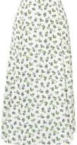 Emilia Wickstead Luison Wrap-effect Floral-print Crepe Midi Skirt - White