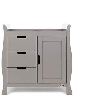 O Baby Obaby Stamford Sleigh Changing Unit - Taupe Grey