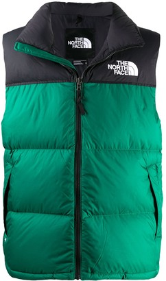 The North Face Logo Embroidered Zip-Up Gilet