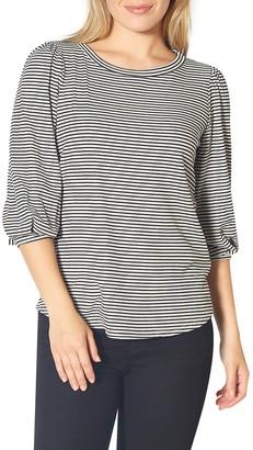 Pleione 3/4 Length Sleeve Stripe Top