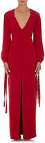 Monique Lhuillier Women's Tie-Cuff Gown-RED