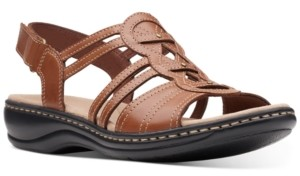 Clarks Collection Women's Leisa Janna Flat Sandals Women's Shoes