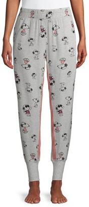 Peanuts Women's and Women's Plus Snoopy Print Lounge Jogger