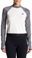 New Balance Sport Style Cutout Crop Pullover