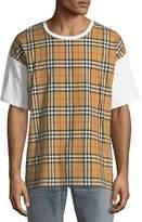 Burberry Men's Signature Check Cotton T-Shirt