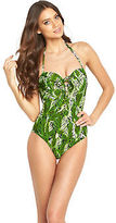 Resort Lace Up Swimsuit in Palm Print Size 32A