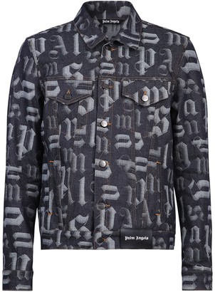 Palm Angels Monogram Print Denim Jacket