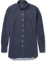 Drake's - Button-down Collar Cotton-flannel Shirt