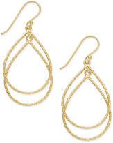 Giani Bernini Double Teardrop Drop Earrings in 18k Gold-Plated Sterling Silver, Created for Macy's